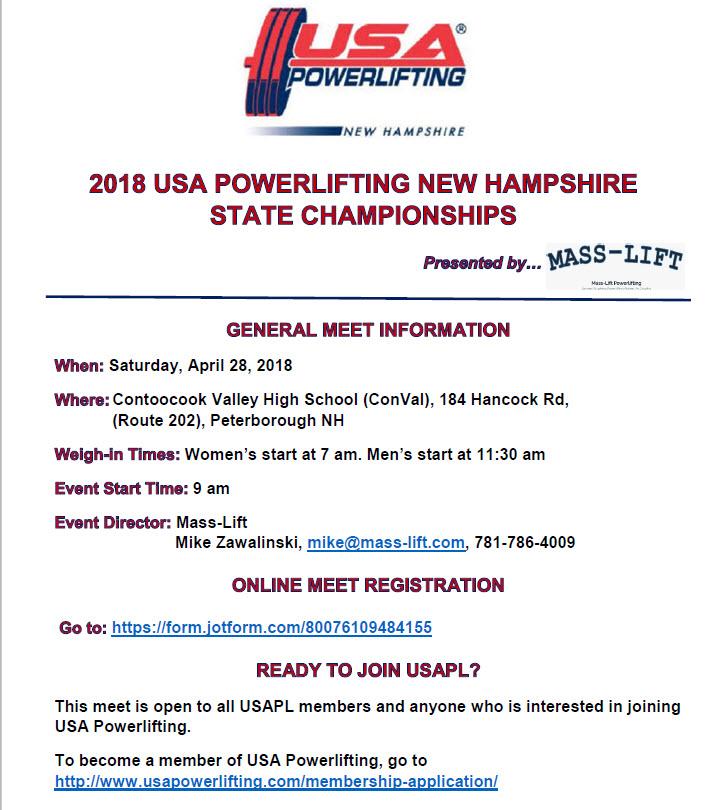 2018 USAPL NH State Championship